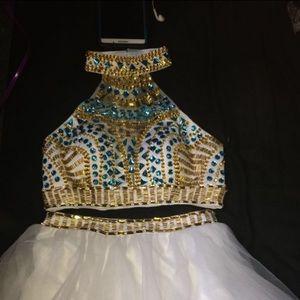 Two piece Rachel Allen homecoming dress